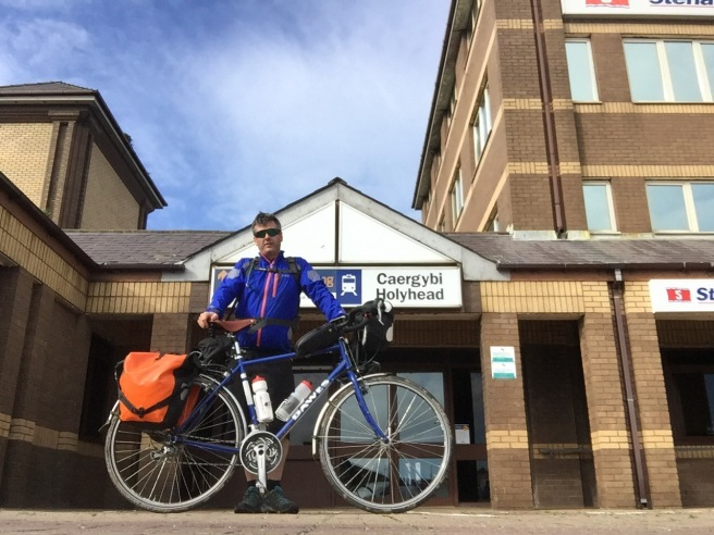 Me and my bike outside Holyhead train station