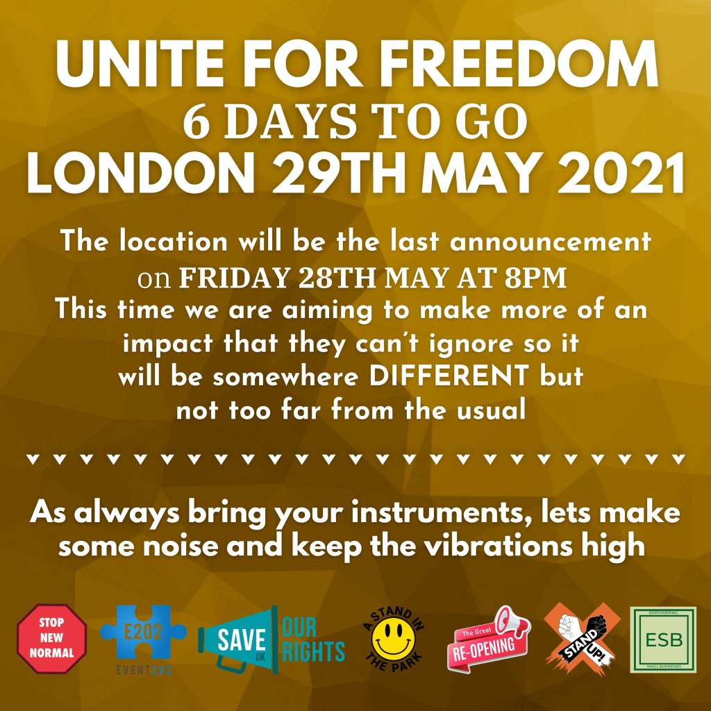 Unite for Freedom - London - 29th May 2021